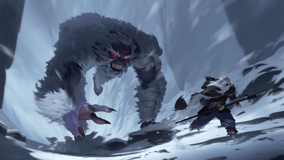 Icy Yeti, Legends of Runeterra, 4K, #3.1760