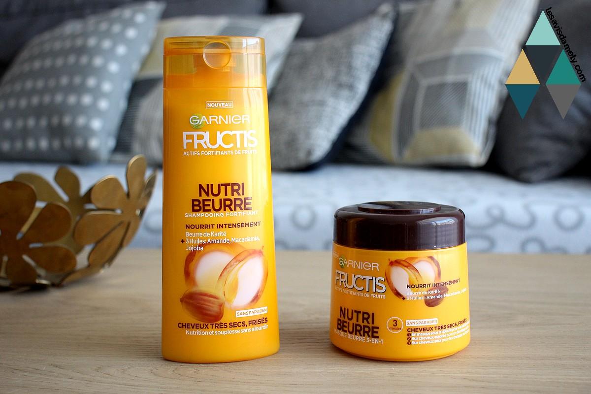 soin nutri beurre garnier fructis cheveux secs
