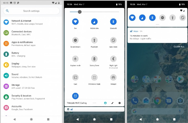 Android 9 Material Design 2 UI
