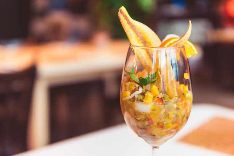Aperol Shrimp w Orzo Krakow