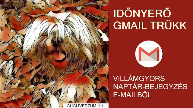 Google Naptár esemény Gmail-ből