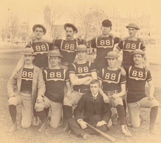 A photograph of the 1888 baseball team.