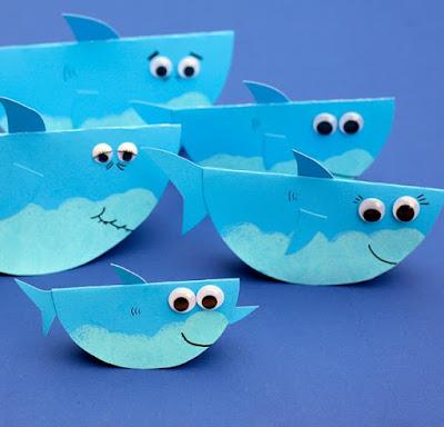Lets Make Baby Shark Craft