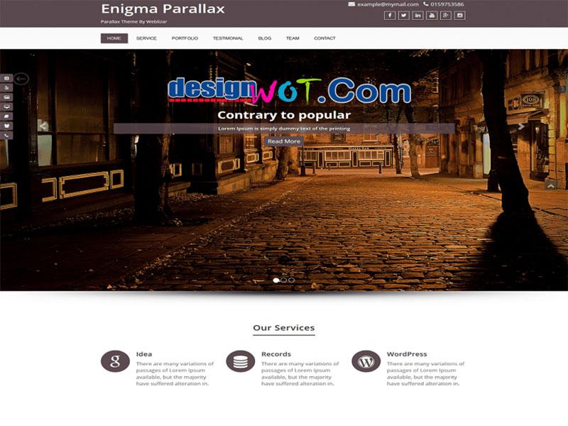 Enigma parallax Multi purpose WordPress Theme