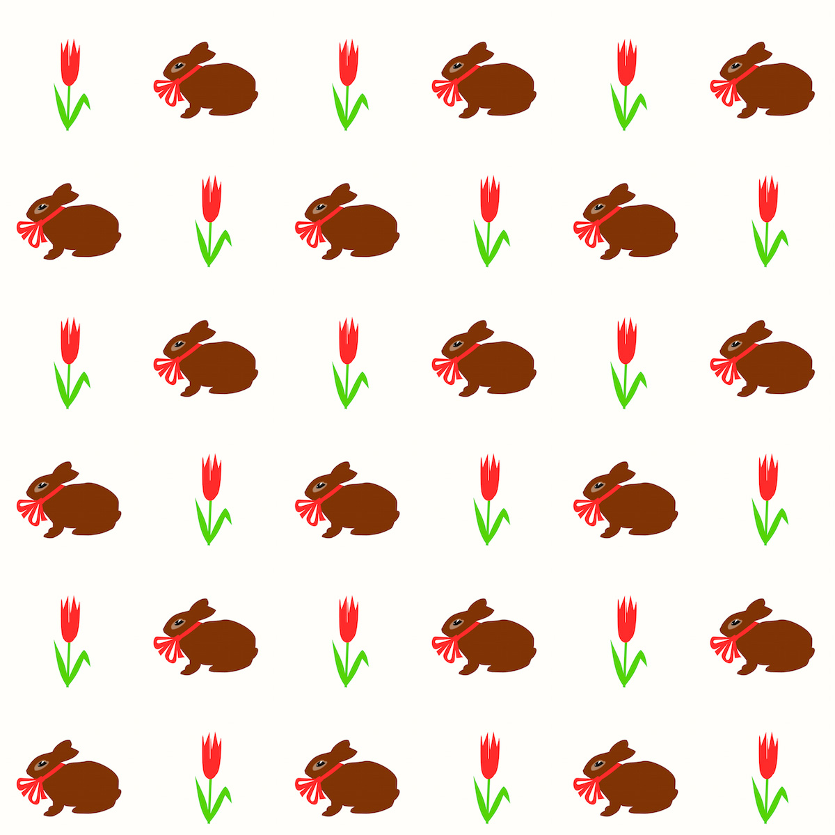 Free Digital Spring Bunny Scrapbooking Paper