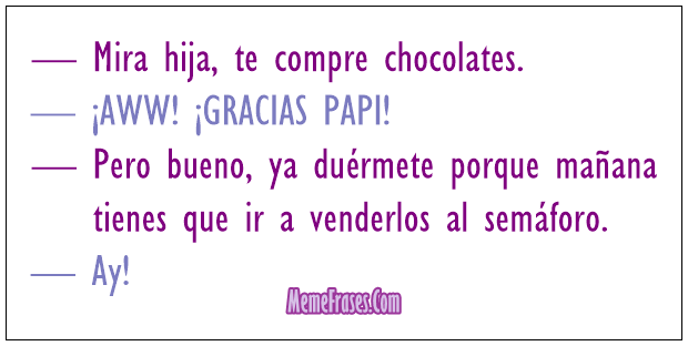 Chiste chocolates