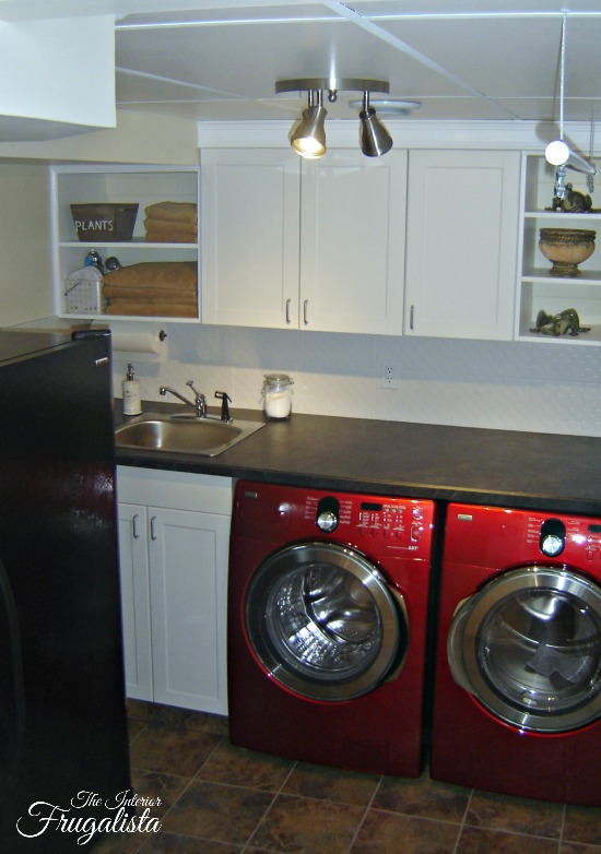 Poor design basement laundry room