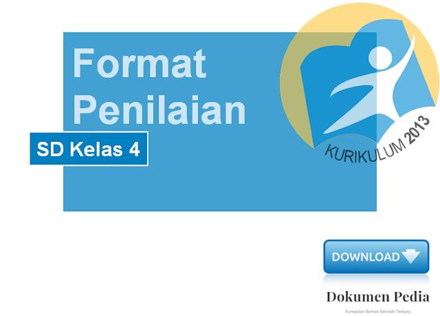 Format Penilaian SD Kelas 4 Kurikulum 2013 Versi Revisi