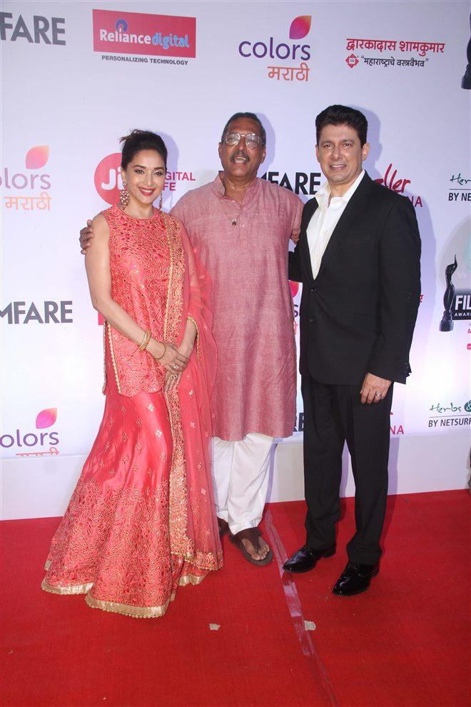 Madhuri Dixit at Filmfare Marathi Awards  In Mumbai