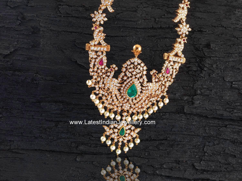Diamond Classic Rani Haram Latest Indian Jewellery Designs