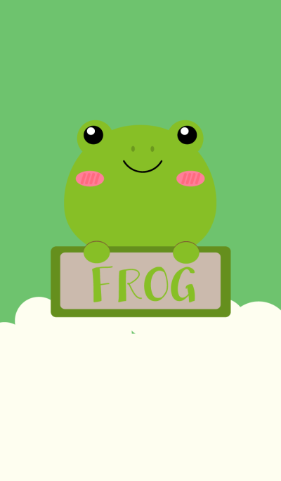 Simple Cute Love Frog Theme