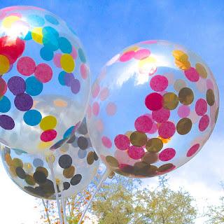Прозрачные воздушные шарики  с кружочками