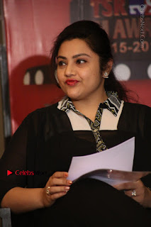 Tamil Actress Meena Latest Stills in Black Dress at TSR TV9 Awards Press Meet  0089.JPG