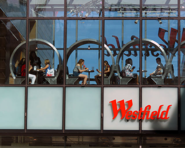Eating at the Westfield Stratford City, Queen Elizabeth Olympic Park, Stratford, London