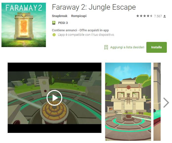 Soluzioni Faraway 2: Jungle Escape