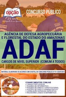 Baixar Apostila Concurso ADAF 2018 PDF Download