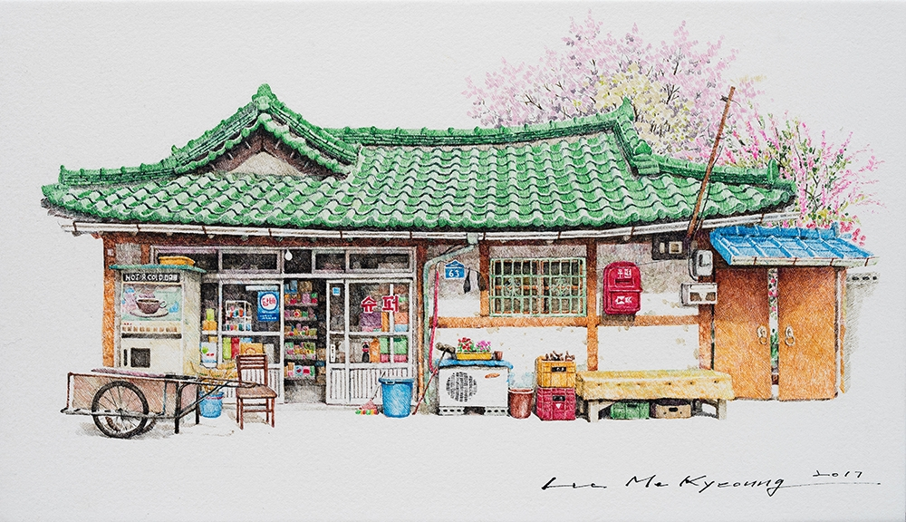 11-Super-Me-Kyeoung-Leehas-Pencil-Drawings-of-Convenience-Stores-in-South-Korea-www-designstack-co