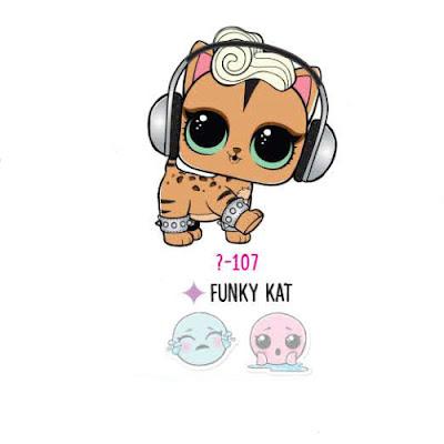 Кошечка Funky Kat из коллекции LOL Pets Eye Spy Series 4 Wave 1