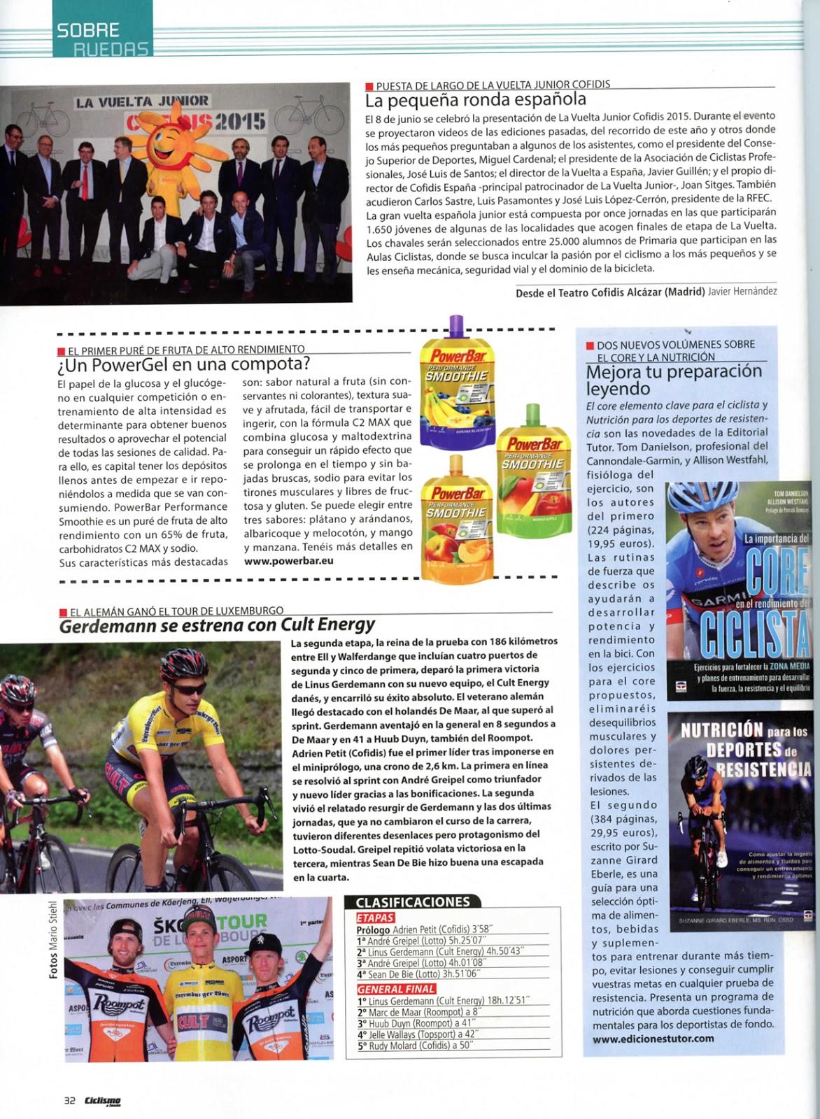 Reseña del libro Guía para el corredor de montaña Trail Running en el  número de julio 2015 de la Revista Trailrun.