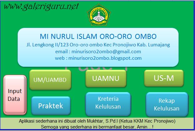 Aplikasi Pengolahan Nilai Ijazah Untuk Madrasah