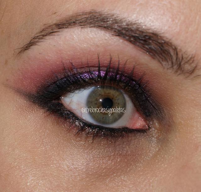 ahumado pigmento rosa maquillaje navidad