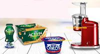 Logo Con Activia e Oikos vinci estrattori di succo KitchenAid