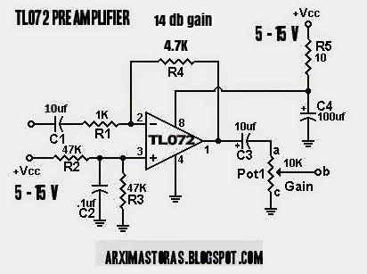Amateur-built : Pill box preamplifier! (ΤL072)