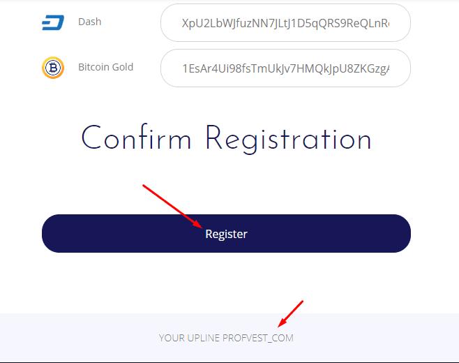 Регистрация в NeoCrypto 2