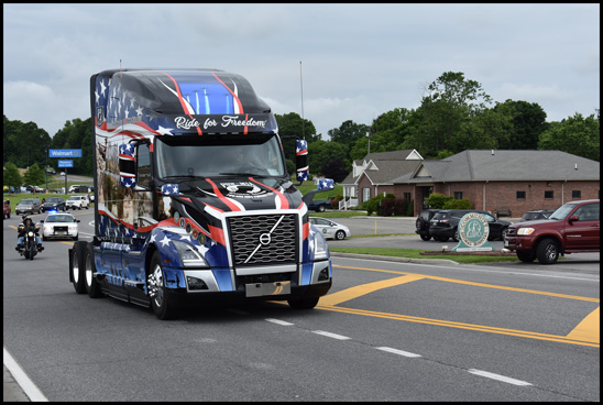 Volvo Tribute Truck honoring U.S. Military Heros