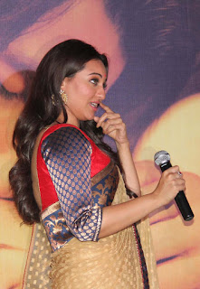 Sonakshi Sinha Glamourous Saree Stills at the music launch