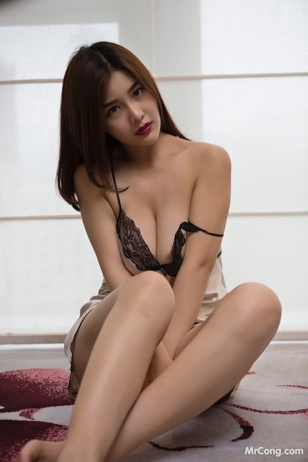 Image Yan-Pan-Pan-Part-5-MrCong.com-007 in post Ngắm người đẹp Yan Pan Pan (闫盼盼) khoe dáng sexy với váy ngủ (25 ảnh)