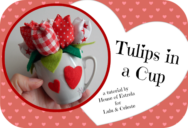 Fabric tulips tutorial guest post by House of Estrela
