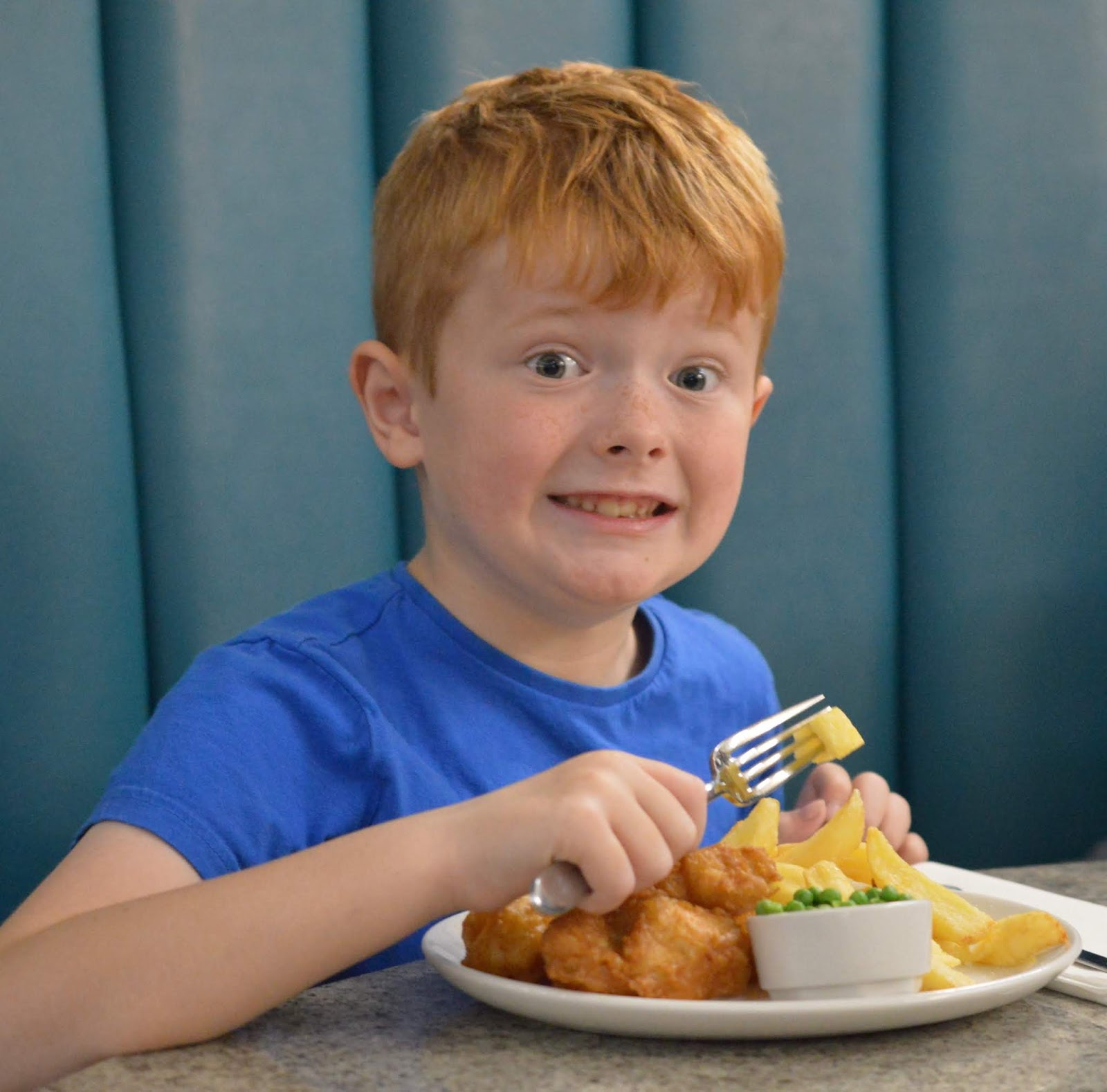 Fish and Chips with Kids at Trenchers, Spanish City - A Review - kids portion