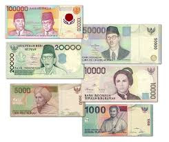 Banknote Indonesia from time to time.
