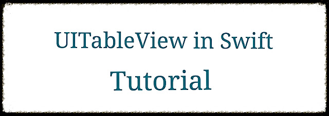UITableView in Swift Tutorial