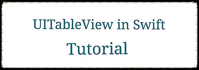 UITableView in Swift Tutorial