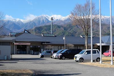 長野県下伊那郡飯島町 飯島町役場からの風景 中央アルプス