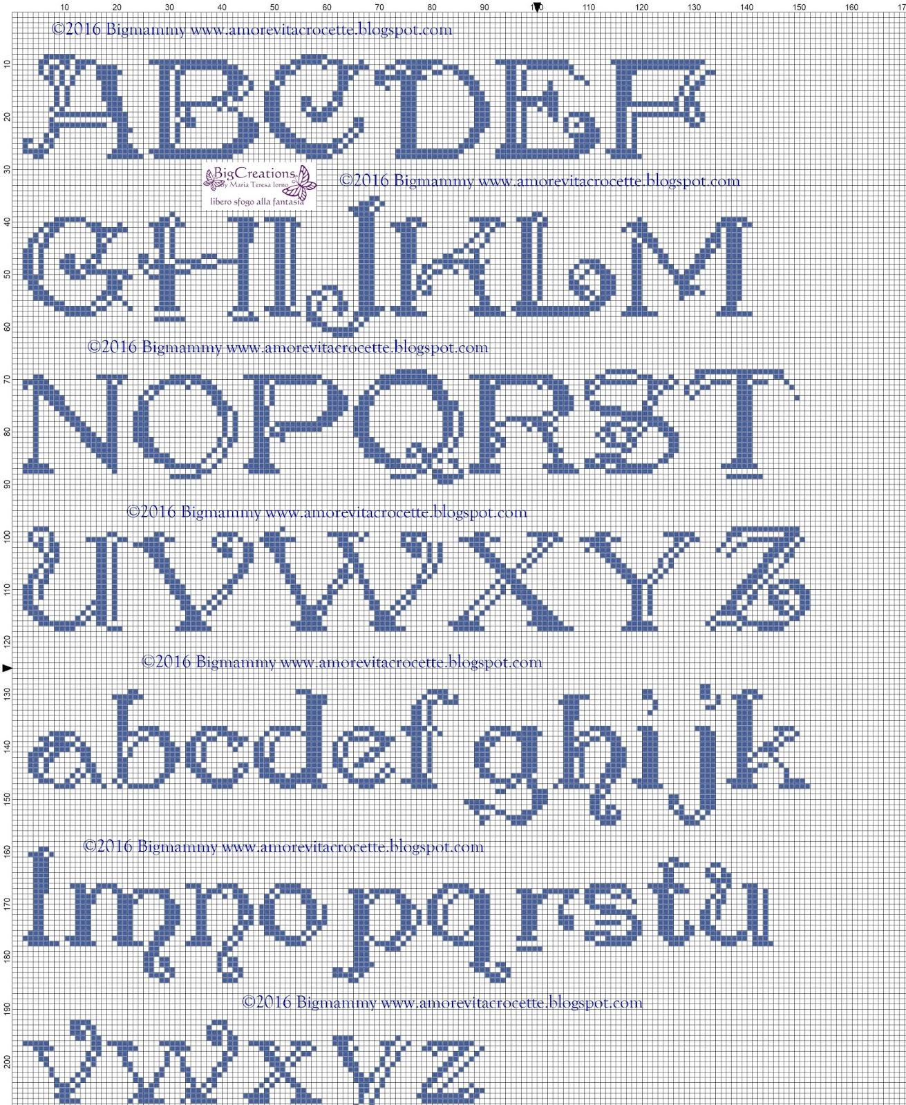 Amorevitacrocette ancora alfabeti a punto croce for Alfabeti a punto croce per bambini
