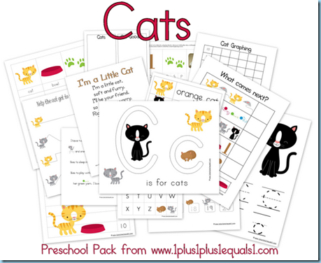 Preschool Cat Printables