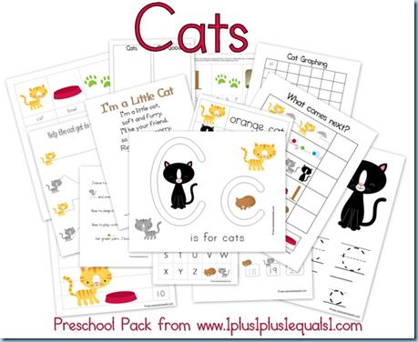 Preschool Cat Printables