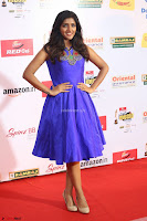 Eesha in Cute Blue Sleevelss Short Frock at Mirchi Music Awards South 2017 ~  Exclusive Celebrities Galleries 065.JPG