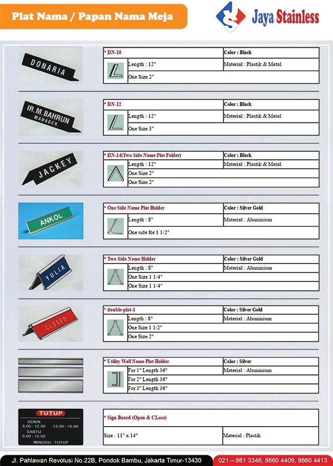 Katalog Name desk