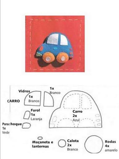 plantilla coche para manualidades niños