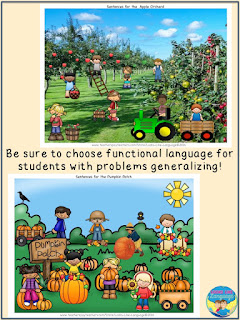 Be sure to choose functional language for students with autism! Looks-Like-Language