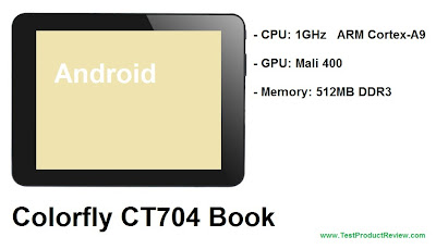 Colorfly CT704 Book review