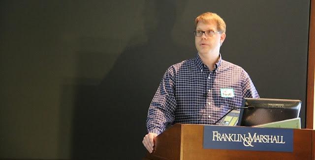 Niel Brandt speaks at the 34th Annual Central Pennsylvania Consortium Astronomers' Meeting held at Franklin & Marshall College in Lancaster, PA in 2014. Photo credit: Slava Murygin/slavaastro.blogspot.com.