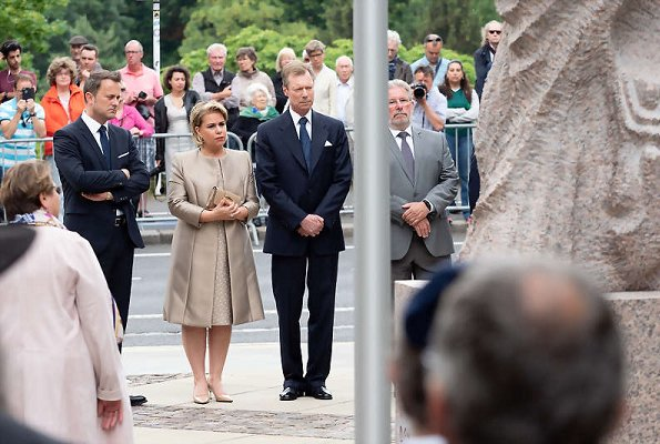 Grand Duke Henri and Grand Duchess Maria Teresa attended the opening of 'Kaddish' Monument built in memory of Holocaust victims of Luxembourg