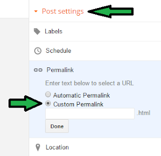 Change Blogger Post URL While Publishing