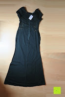innen: Alexis Leroy Damen Kappenhülse Jahrgang Halter Split-Seite Formal Abendkleid