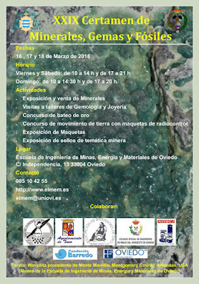 Certamen minerales, gemas, fósiles en la Escuela de Minas de Oviedo
